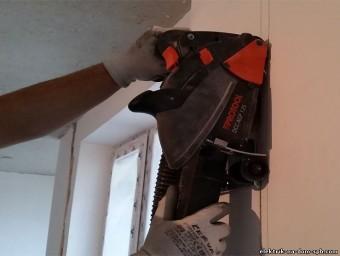 Штробления стен без пыли