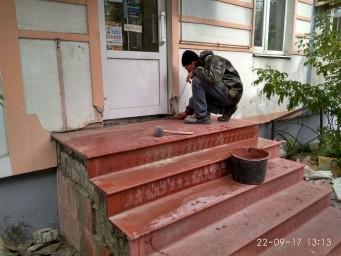 Тонкостенные бетонные крупногабаритные лестничные ступени и площадки
