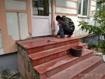 Уличная лестница (входная группа) - реконструкция