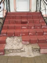 Уличная лестница (входная группа) до реконструкции